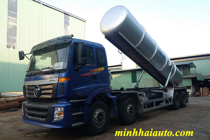 xe hút chất thải auman c300b 14 khối