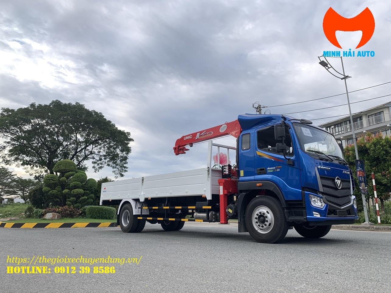Xe tải C160 gắn cẩu unic 5 tấn