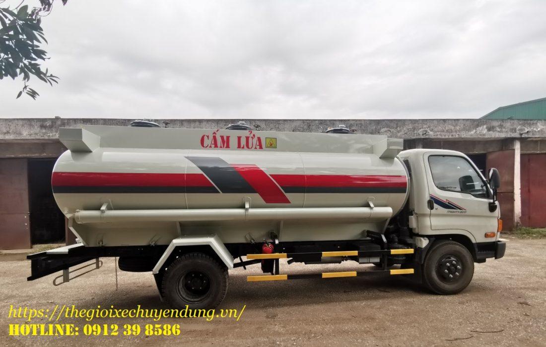 xe chở xăng dầu 9.5 khối Hyundai
