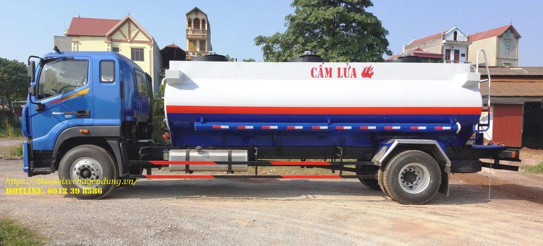 xe xitec chở xăng dầu Thaco auman 12 khối