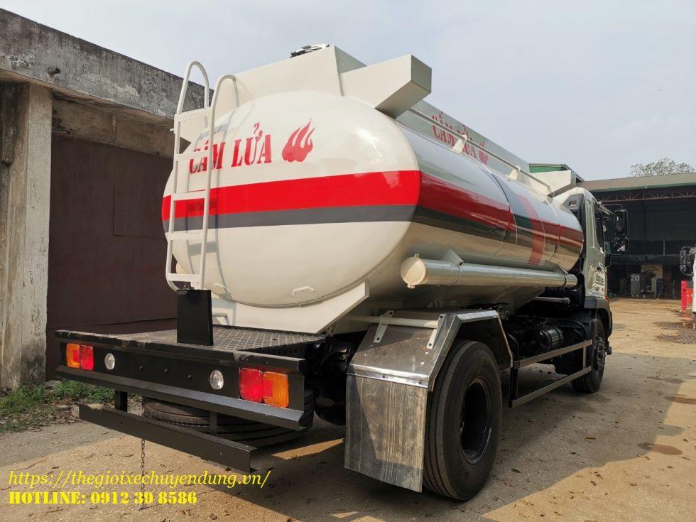 xe bồn chở xăng dầu 12 khối