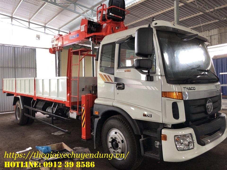 xe tải gắn cẩu kanglim 5 tấn 6 đốt