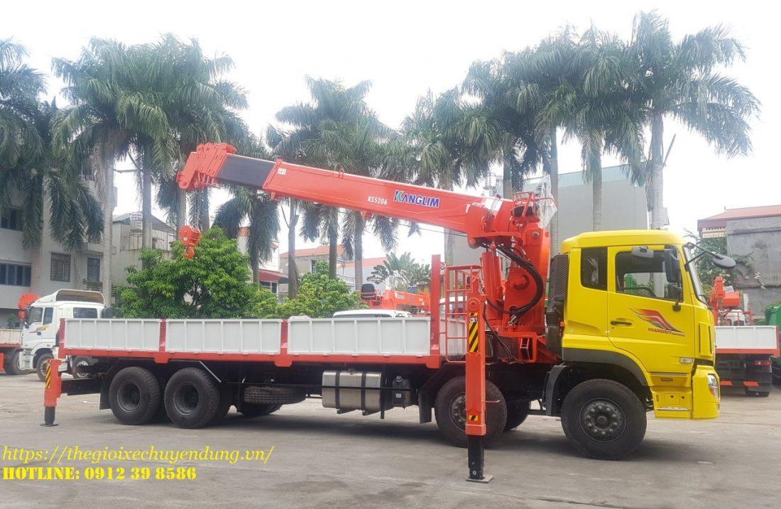 xe tải dongfeng gắn cẩu kanglim 15 tấn