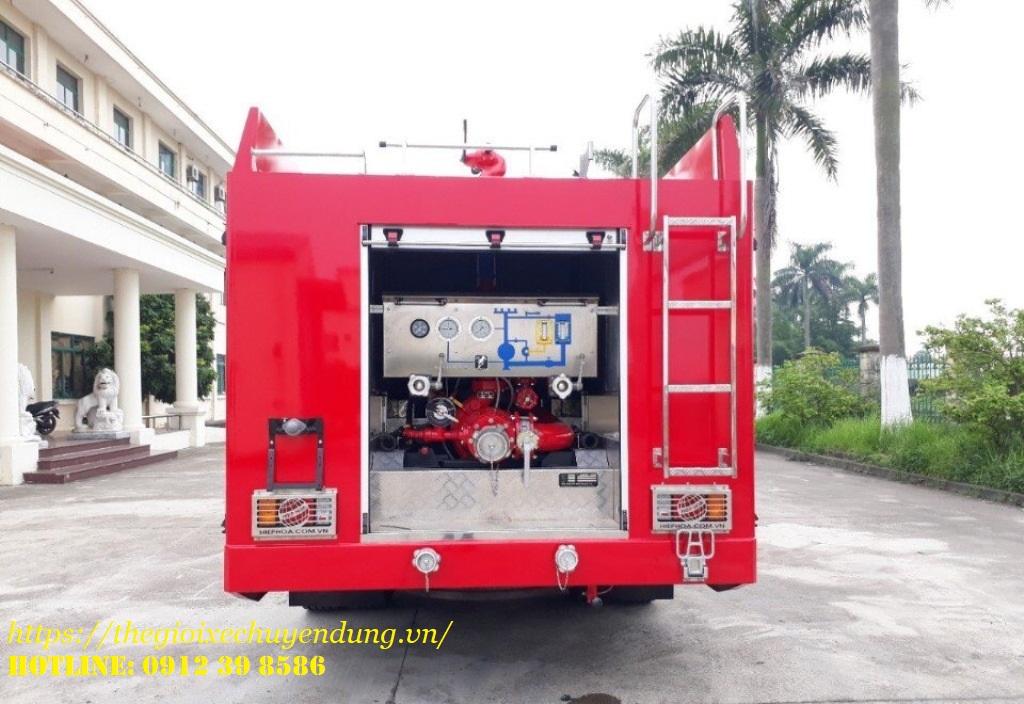 xe cứu hỏa chữa cháy 6 khối Isuzu