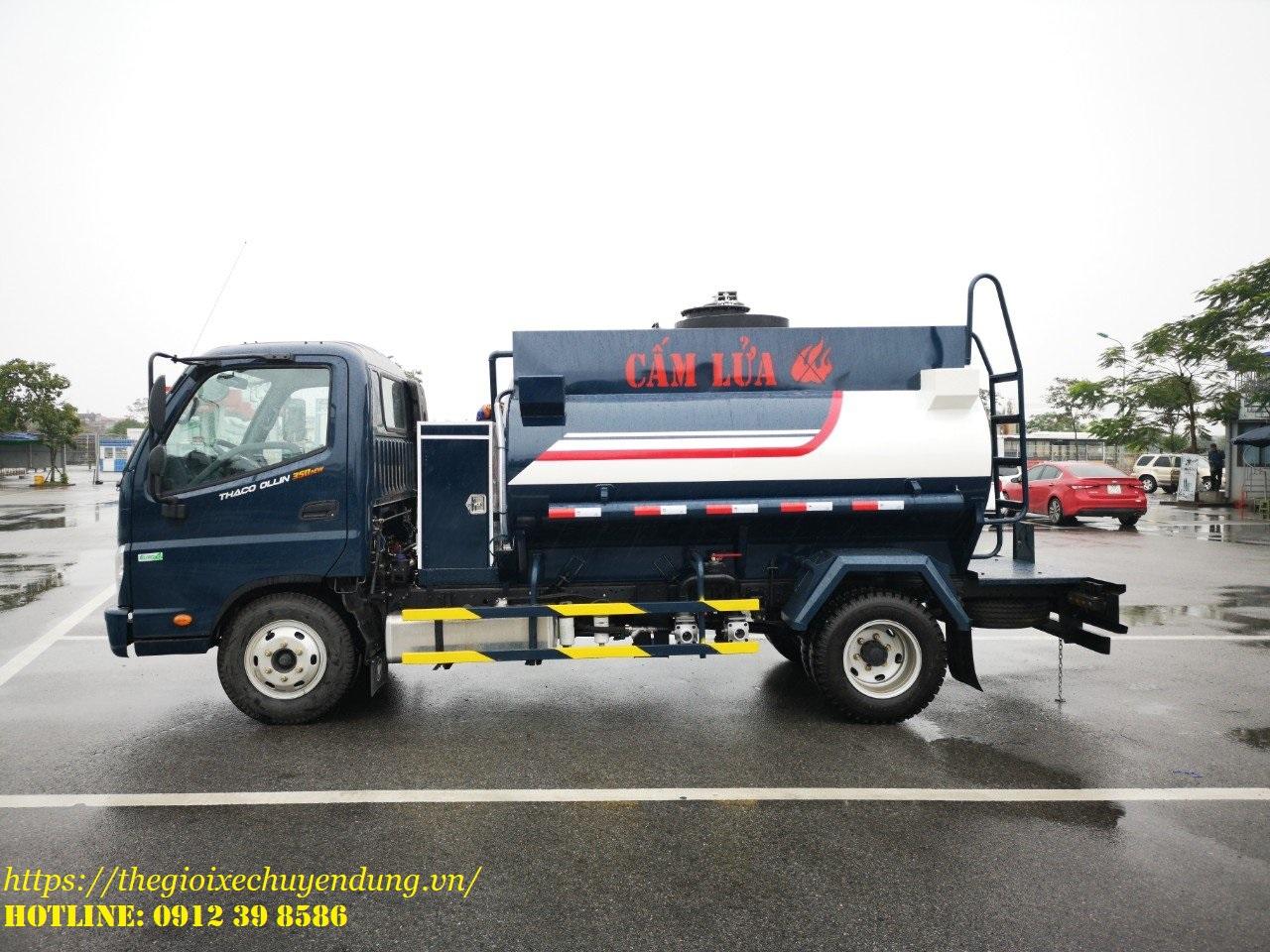 xe bồn chở xăng dầu 4 khối