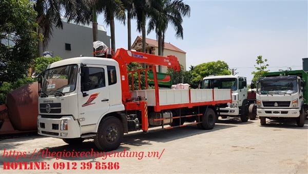 xe tải cẩu Kanglim 5 tấn Dongfeng