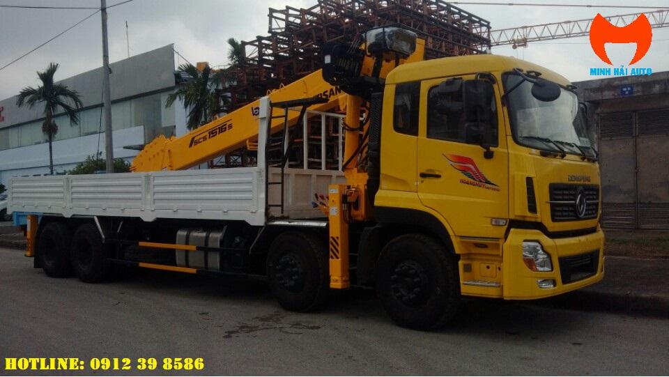 xe tải dongfeng gắn cẩu soosan 15 tấn