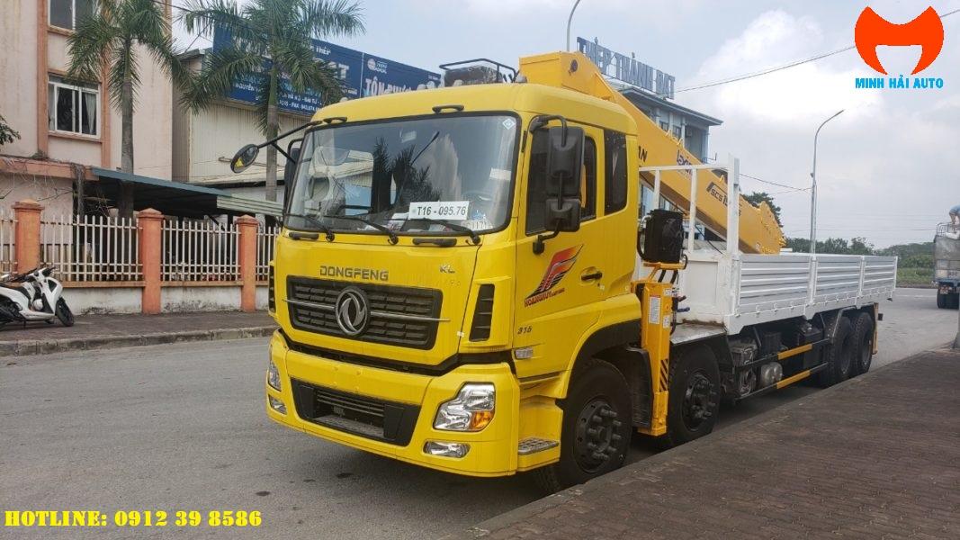 xe tải gắn cẩu 15 tấn soosan