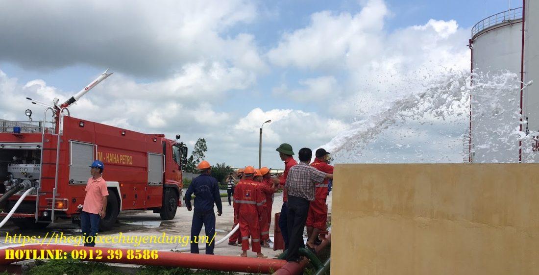 xe cứu hỏa chữa cháy hino 6.5 khối