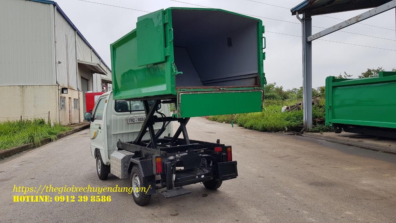 xe thu gom rác thaco Towner