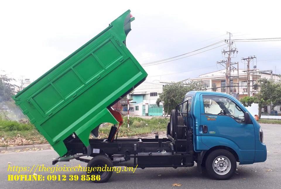 xe chở rác loại nhỏ