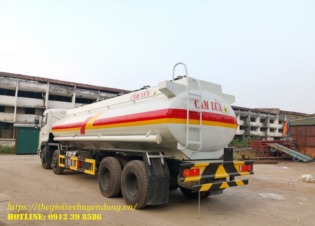 xe chở xăng dầu 22 khối Dongfeng nhập khẩu