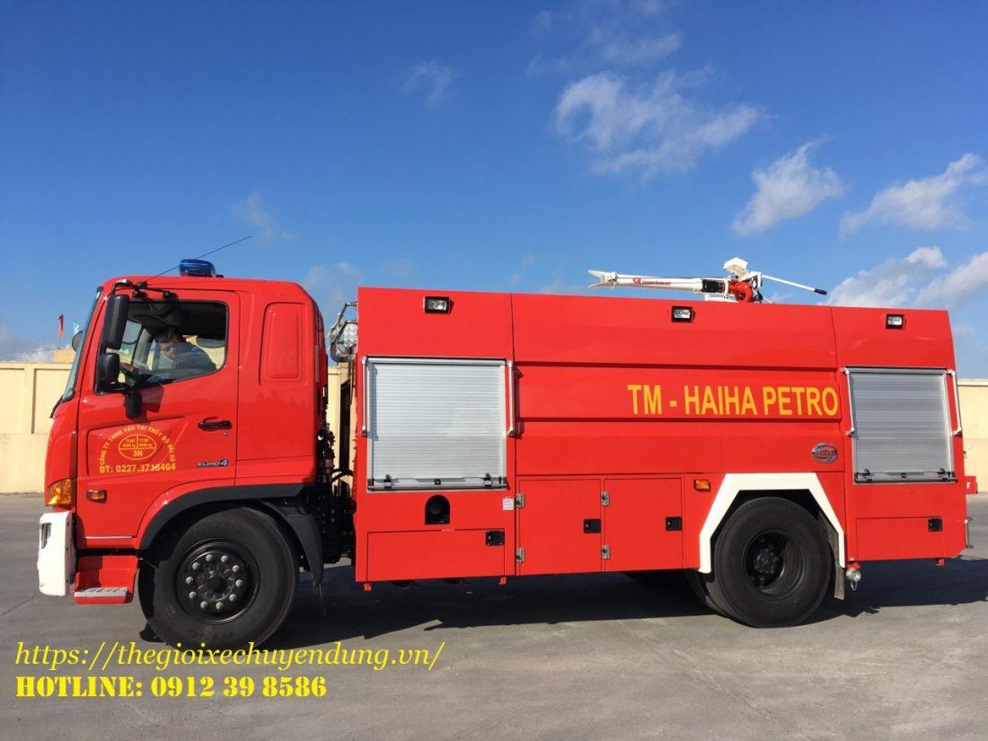 xe cứu hỏa chữa cháy 6.5 khối Hino