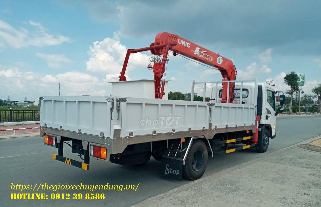 xe tải hyundai gắn cẩu unic 3 tấn