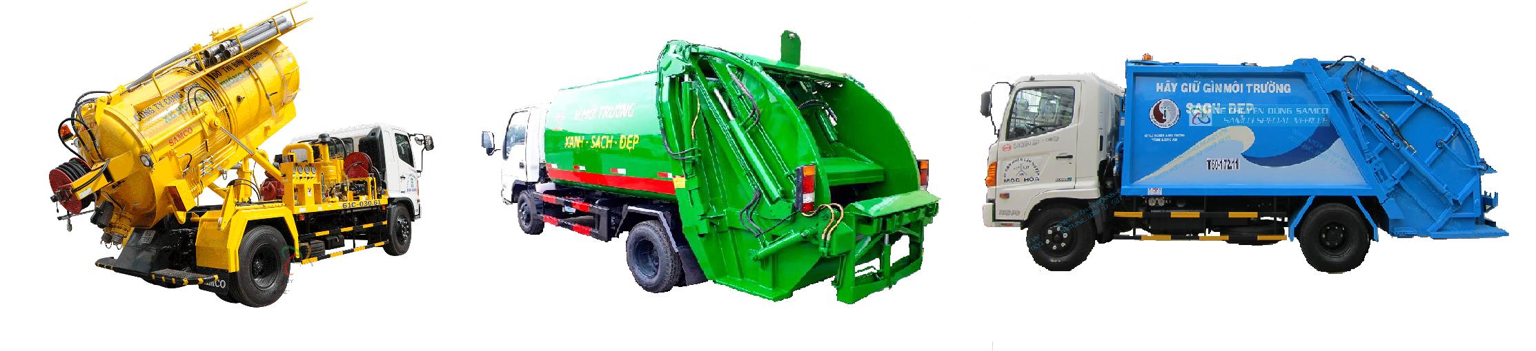 Giá xe ép chở rác