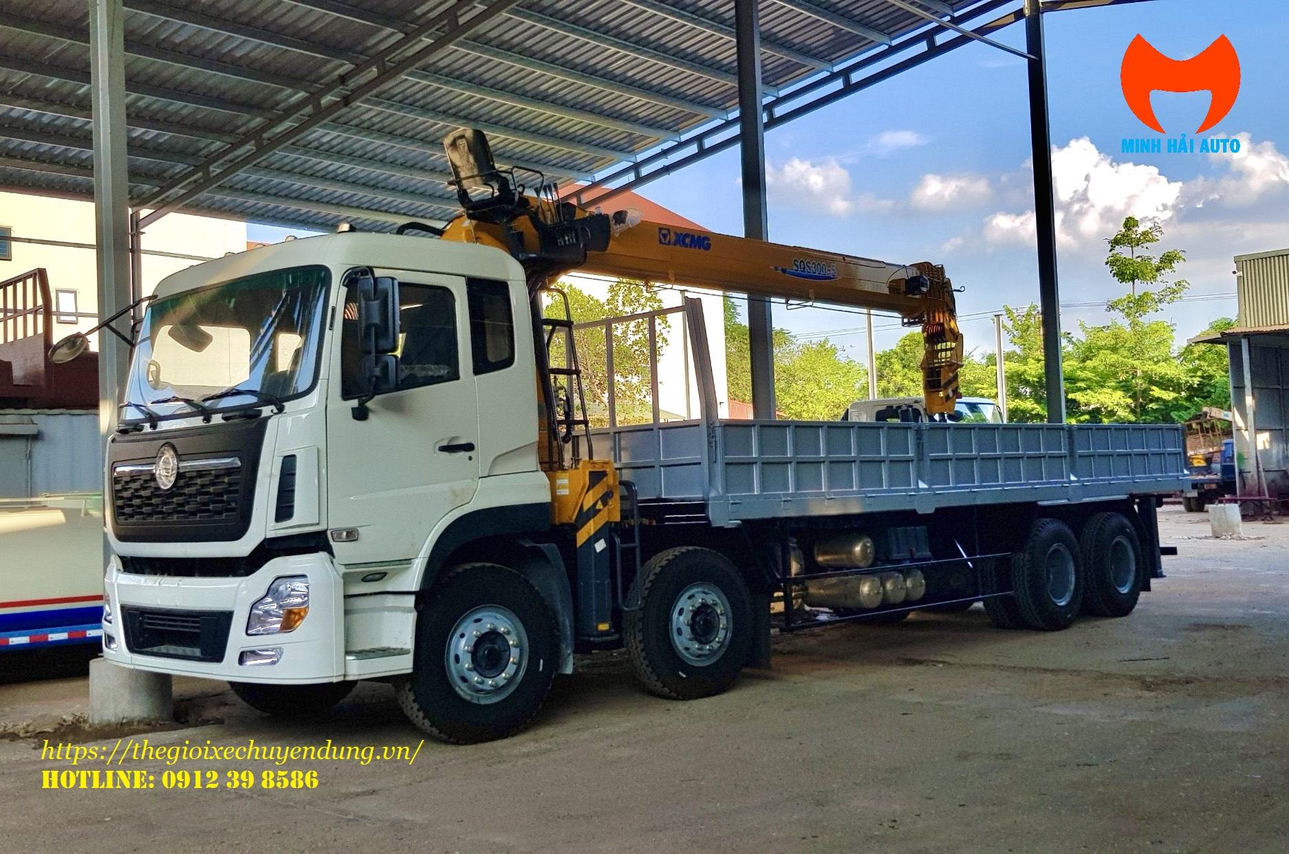 xe tải cẩu dongfeng 12 tấn