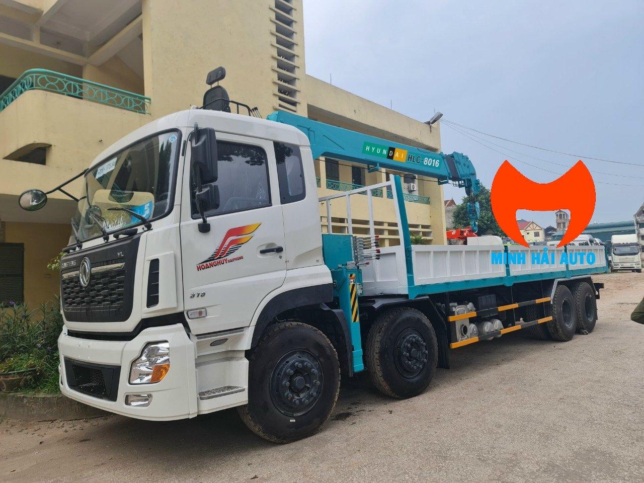 xe cẩu 8 tấn Hyundai Everdigm gắn xe Dongfeng